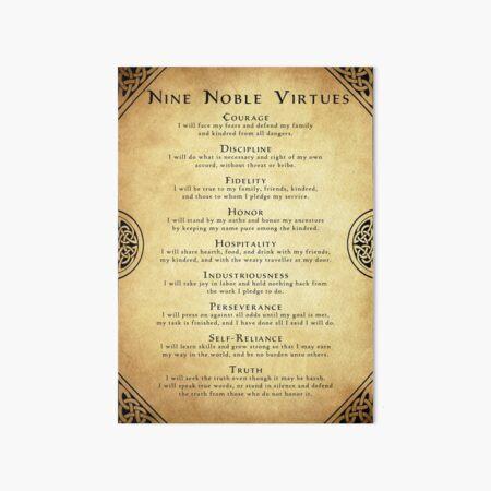 Nine Noble Virtues Art Board Print