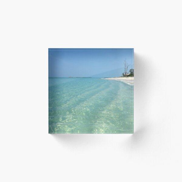 Waves of Sand - Bita Bay  Acrylic Block