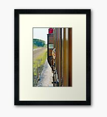Train child portrait Framed Print