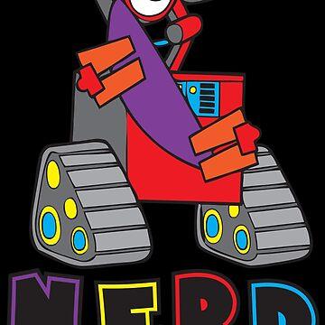 Nerd Robot  by AlienatedOpus