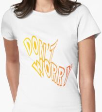 Don't worry write - Vector Women's Fitted T-Shirt