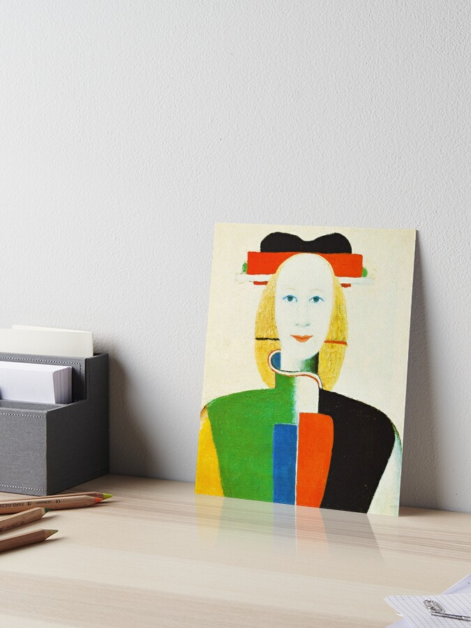 Hd Girl With A Comb In Her Hair By Kazimir Severinovich Malevich 1932 High Definition Art Board Print By Mindthecherry Redbubble