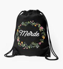 Merde - Sh*t in French Drawstring Bag