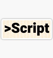 Script Sticker