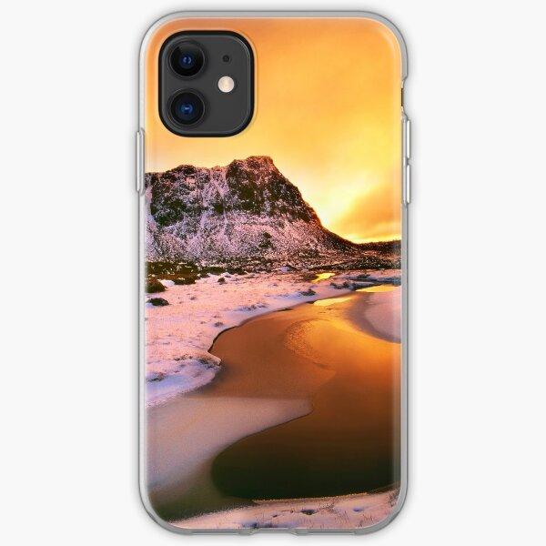 Winter sunset, Walls of Jerusalem  iPhone Soft Case