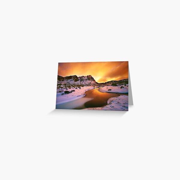 Winter sunset, Walls of Jerusalem  Greeting Card