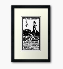 For The Benefit Of Mr Kite Poster! Framed Print