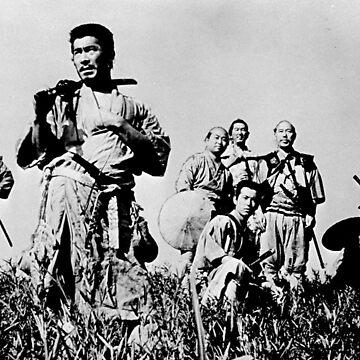 Seven Samurai Akira Kurosawa by bearsnightout