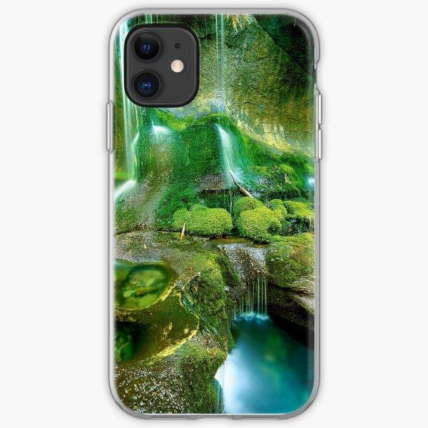 Rainforest Cascades, Tasmania iPhone Soft Case