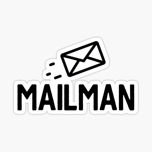 Mailman Letter - Great For Mail Sticker