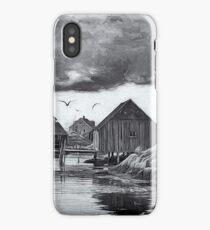 Peggys Cove in Black & White iPhone Case/Skin