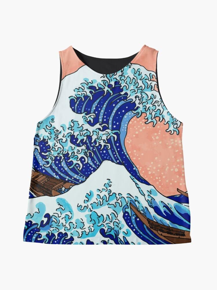 Alternative Ansicht von Die große Welle von Kanagawa Ärmelloses Top