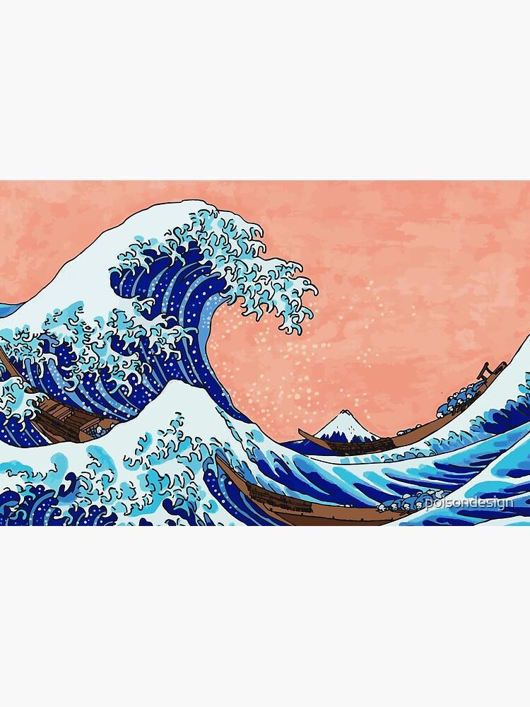 Die große Welle von Kanagawa von poisondesign