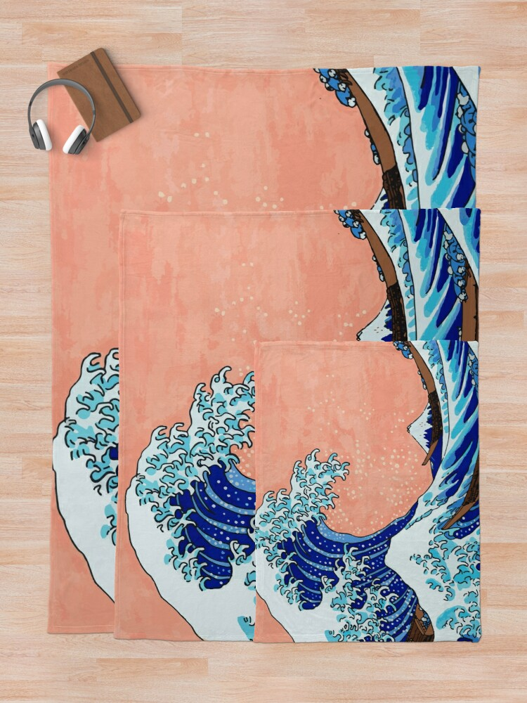Alternative Ansicht von Die große Welle von Kanagawa Fleecedecke