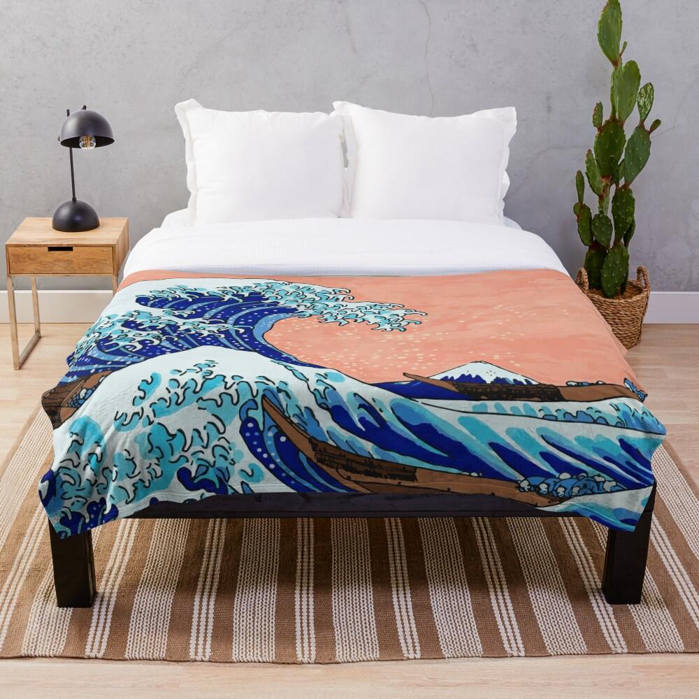 Die große Welle von Kanagawa Fleecedecke