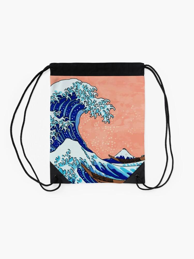 Alternative Ansicht von Die große Welle von Kanagawa Turnbeutel