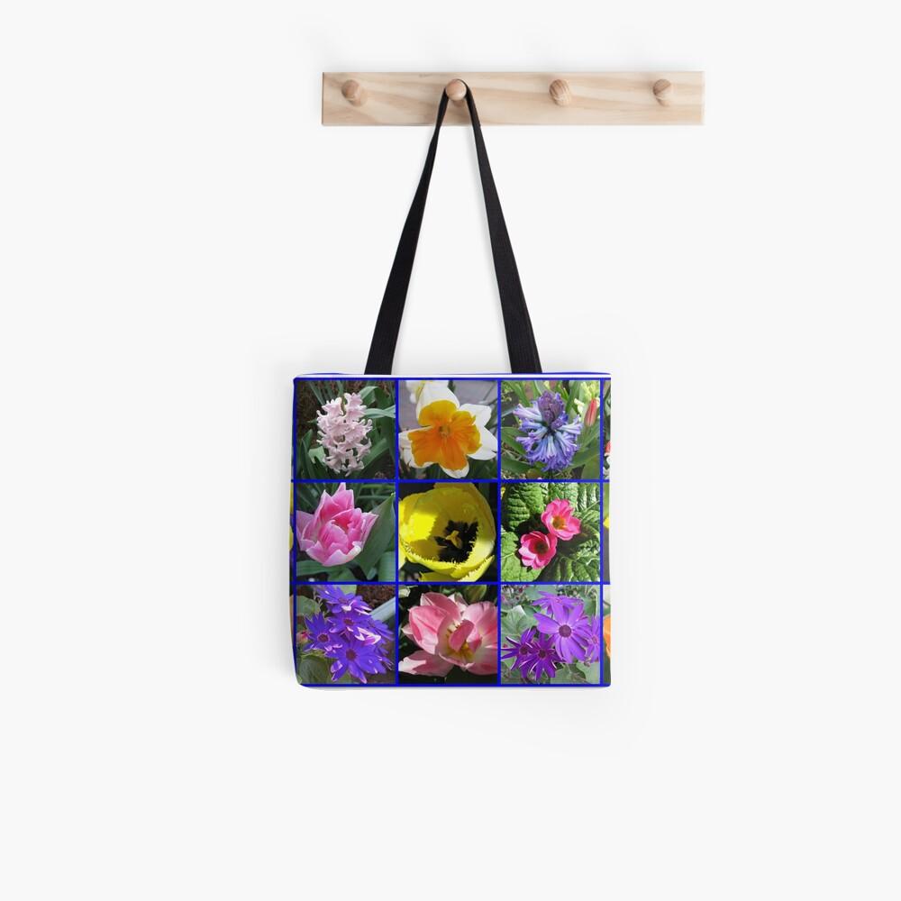 Blumen der Frühlings-Collage Tote Bag