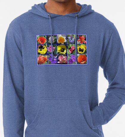 Blumen der Frühlings-Collage Leichter Hoodie