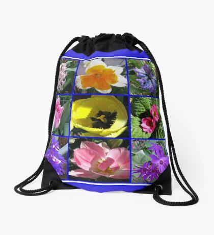 Blumen der Frühlings-Collage Turnbeutel