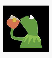 Kermit Sipping Tea Photographic Print