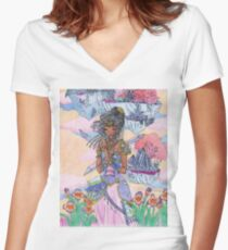 Crystal Space Princess Women's Fitted V-Neck T-Shirt