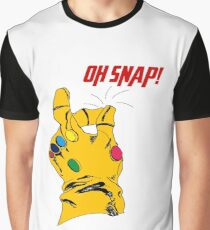 "Thanos Infinity Gauntlet ""Oh Snap!"" Graphic T-Shirt"