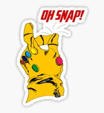 """Thanos Infinity Gauntlet """"Oh Snap!"""" Sticker"""