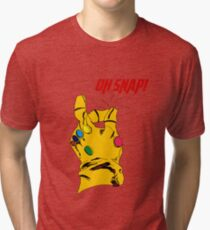 "Thanos Infinity Gauntlet ""Oh Snap!"" Tri-blend T-Shirt"
