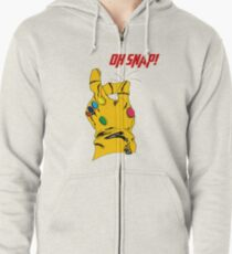 """Thanos Infinity Gauntlet """"Oh Snap!"""" Zipped Hoodie"""