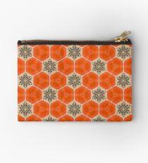 Orange Poppy Bee  Studio Pouch