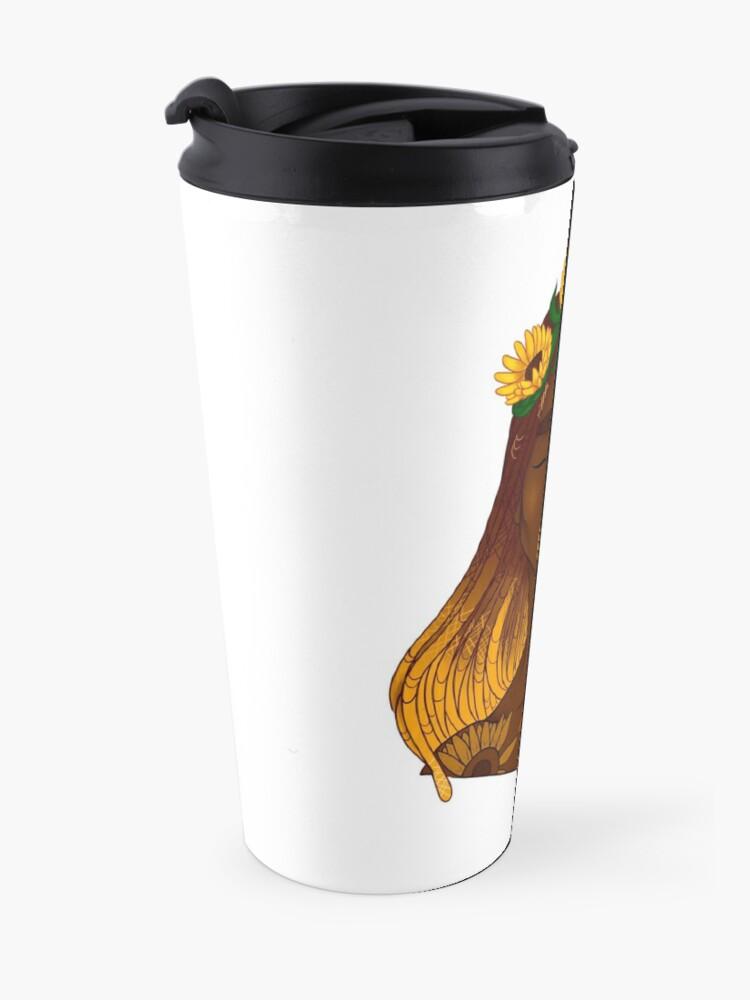Alternate view of the sunflower Travel Mug