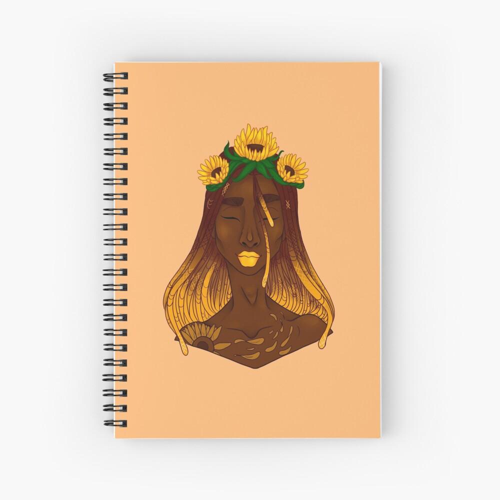 the sunflower Spiral Notebook