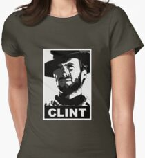 Clint: Conservative Edition Womens Fitted T-Shirt