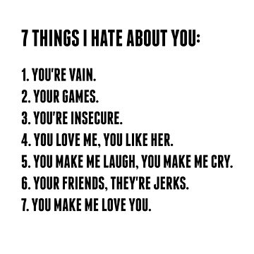 7 Things I Hate About You by AllieJoy224