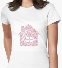 House shaped vector pattern Womens Fitted T-Shirt