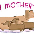 Happy Mother's Day dachshunds by Diana-Lee Saville