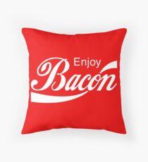 Enjoy BACON Throw Pillow