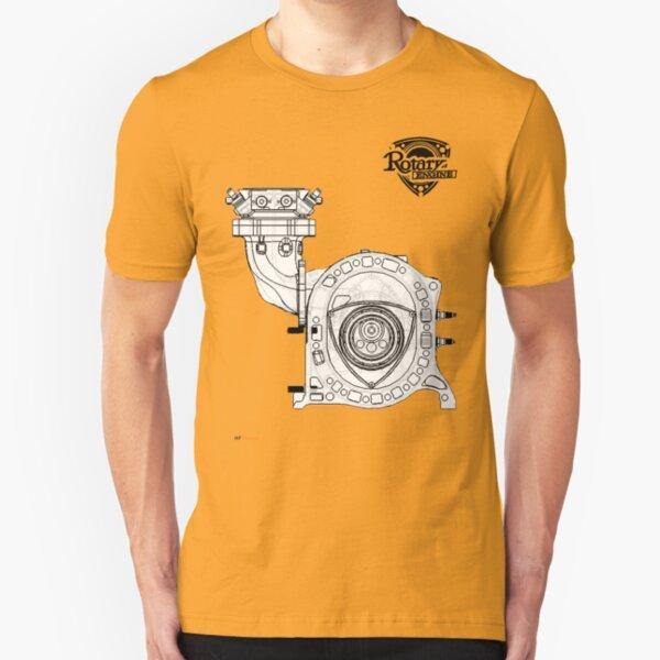 Mazda Rotary Engine Blueprint for Power 13B Slim Fit T-Shirt