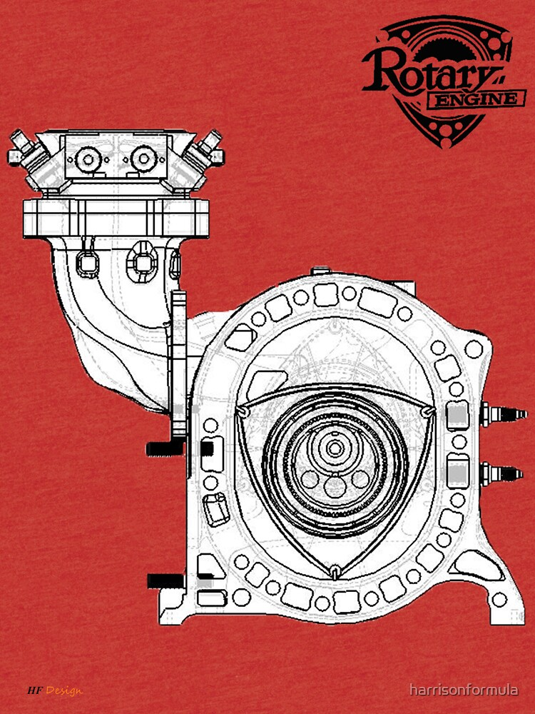 mazda rotary engine blueprint for power 13b by harrisonformula