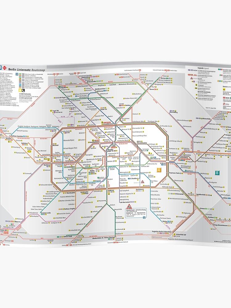 Berlin Subway Map Poster.Berlin S Bahn Map Germany Poster