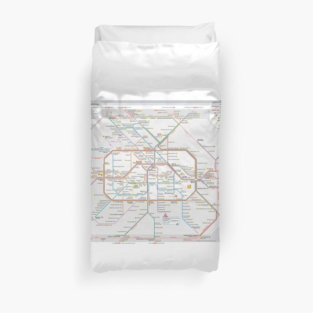 Berliner S-Bahn Karte - Deutschland Bettbezug