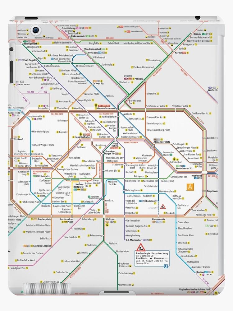 Berlin S Bahn Map Germany Ipad Cases Skins By Superfunky - Berlin-us-bahn-map