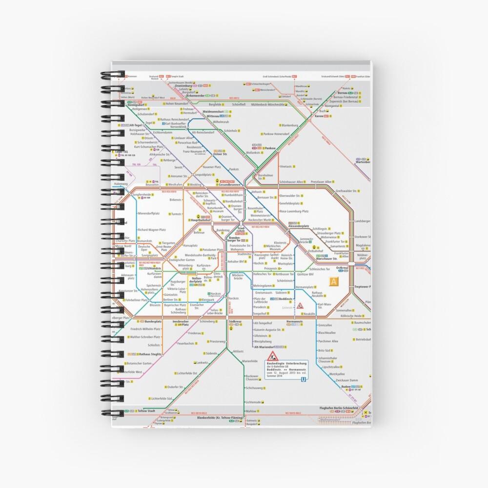 Berliner S-Bahn Karte - Deutschland Spiralblock