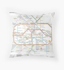 Berlin U-Bahn Map - Germany Floor Pillow