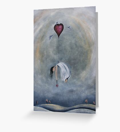 loVe has over taken me Greeting Card