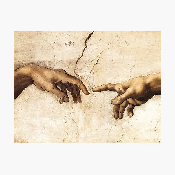 The Creation of Adam Michelangelo Painting Photographic Print