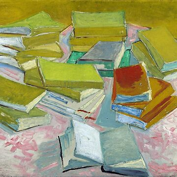 Vincent Van Gogh - Pile of French Novels, Book lovers! by NewNomads