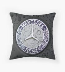 Mercedes Benz Car Logo 3D Throw Pillow