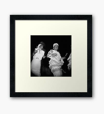 Dancing to enlightenment Framed Print