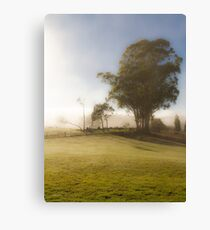 A Misty Morning in Westerway Canvas Print